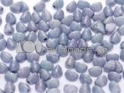 Pinch Beads 5mm - Chalk White Baby Blue Luster