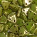 CzechMates Triangle 6mm - Silversheen Chartreuse